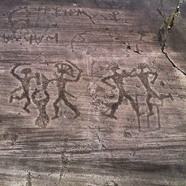 Rock art in valcamonica and valtellina