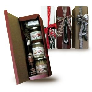 Confezione regalo con prodotti tipici di Cantello